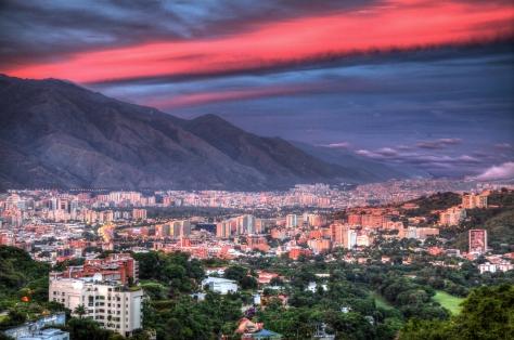 Sunset over Caracas