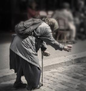 Gypsy beggar.