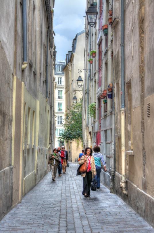 Paris walkway.