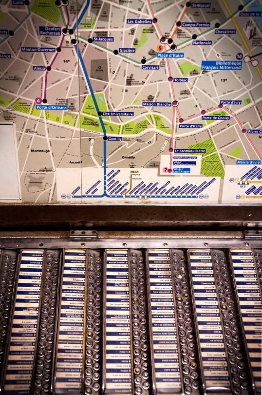 Retro Paris Metro Maps