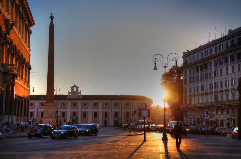 Sunset on the Piazza