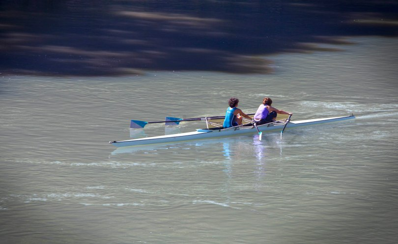 Rowing on the Tiber River