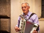 Love and the Accordian are Ageless in Rome