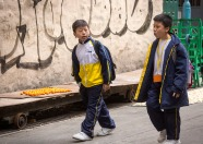 Two Boys Walking