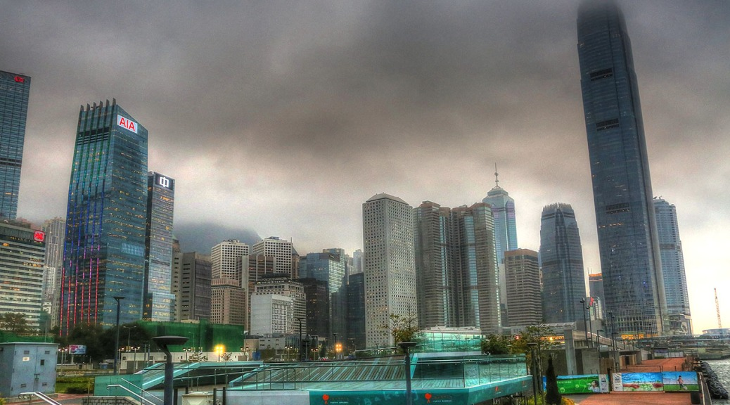 Dusk Settles on Hong Kong