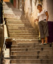 Lady on the Steps