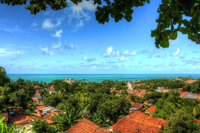 Olinda, Brazil, by the sea.
