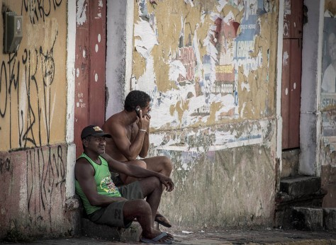 Two men in Olinda, Brazil.