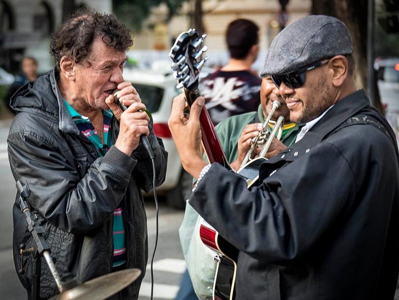 Sao Paulo street musicians.