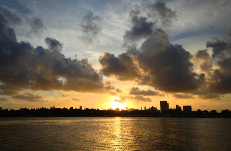Recife, Brazil sunset.