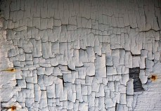 Weathered paint.