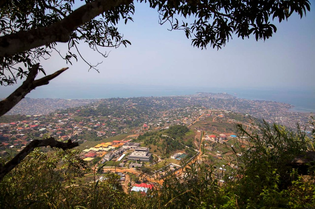 Freetown Sierra Leone from the Lion Mountains above.