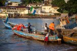 Colorful fishing boats provide a means of survival.