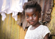 Sierra Leonean girl in white.