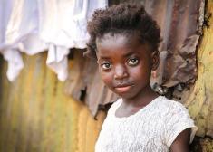 Sierra Leonean girl in white.