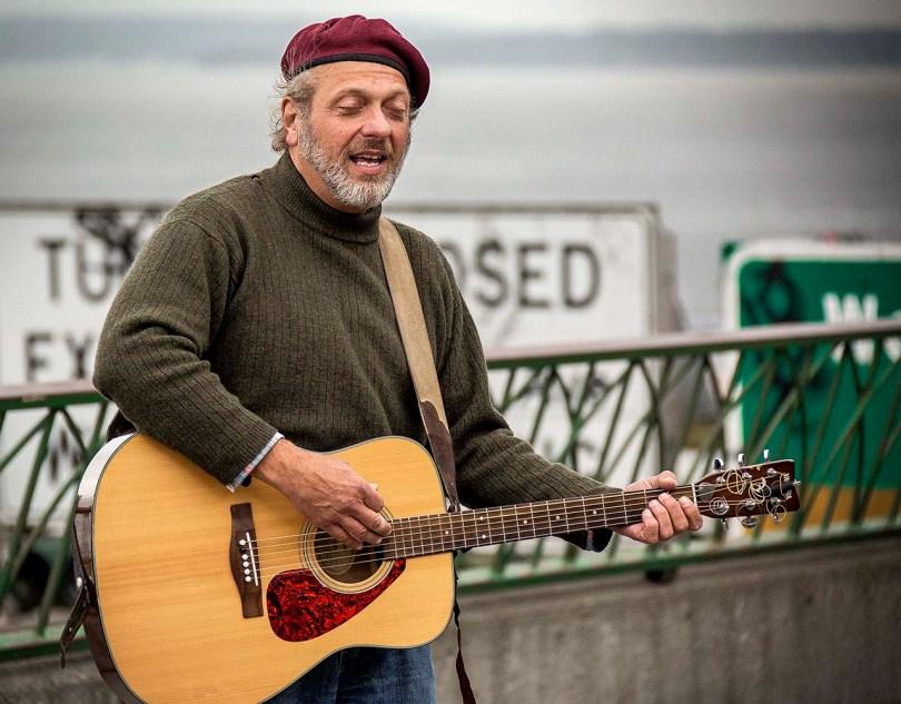 Seattle street performer.