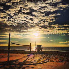 Beach Volleyball and Life guard tower