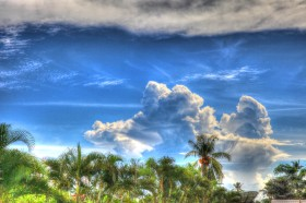Clouds and tradewinds.
