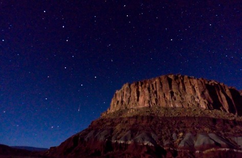 Big Dipper above Wind Gate Capitol Reef.