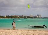 Hotel row in Palm Beach, Aruba.