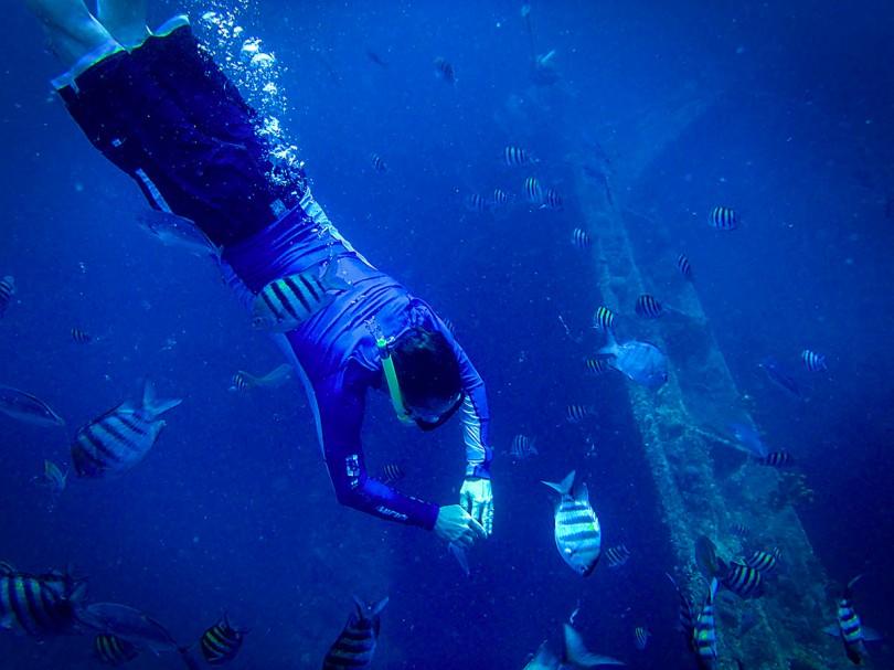Skin diving Aruba