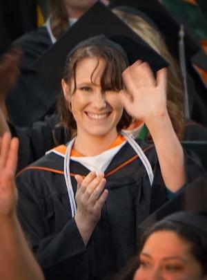 Carrie graduates.