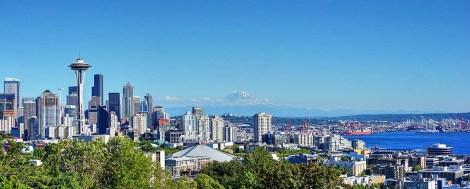 Seattle skyline.
