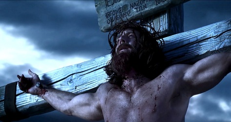 Jesus is crucified.