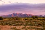 Arizona painted mountain sunset.