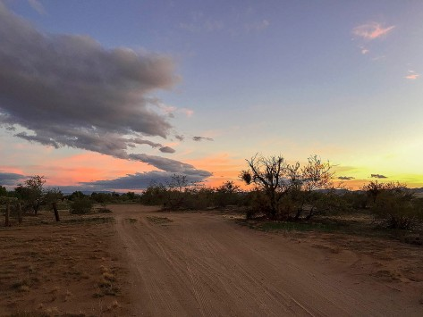 Desert dirt road.