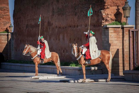 Traditional Palace Guards, Rabat, Morocco.