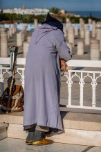 Weary Moroccan woman.