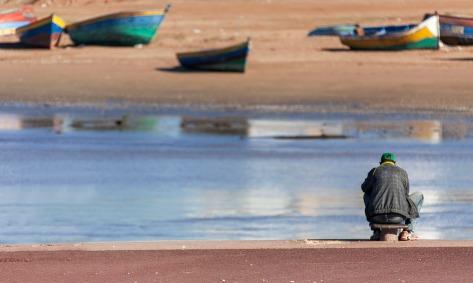 Fisherman on the Bou Regreg river.