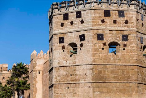 Gun turrets of the Kasbah of the Udayas.