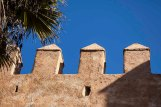 Parapets of the Kasbah of the Udayas, Rabat, Morocco.