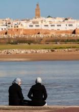 Women on the Bou Regreg River.
