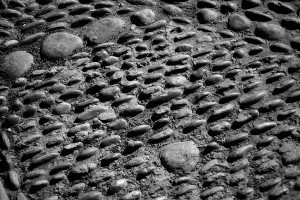 Rabat, Morocco cobblestones.