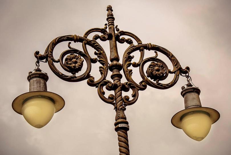 Sao Paulo, Brazil street lamps.