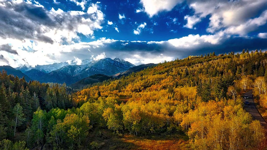 Autumn in American Fork Canyon, Utah.
