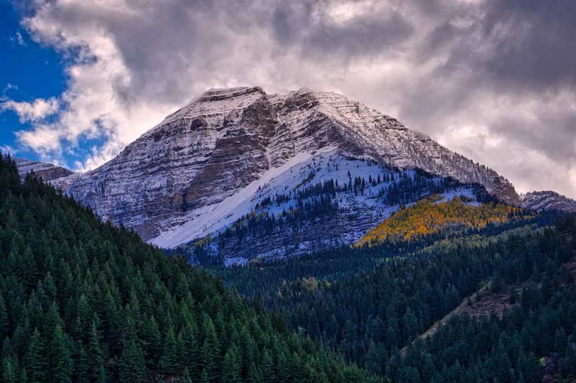 Mount Timpanogos back.