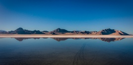 Bonneville Salt Flats under water.