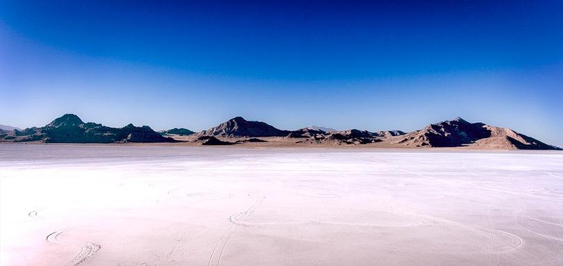 Bonneville Salt Flats Mountains.