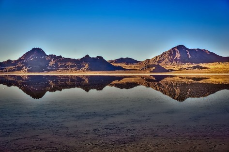 Bonneville Salt Flats reflections.