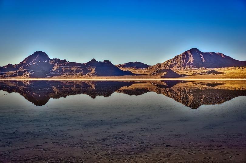 Bonneville Salt Flats reflections.