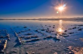 Water covers the Bonneville Salt Flats.