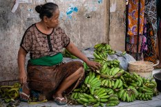 Banana Vendor, Indonesia.