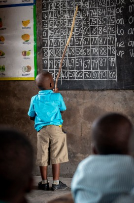 Primary School number drills, Ghana.