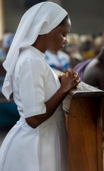 Kneeling Nun.